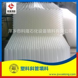 PP斜管填料水�理塑料斜板填料