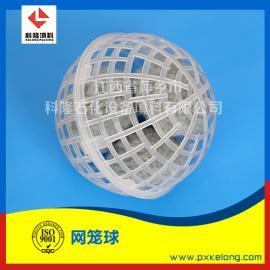 DN50/DN80/DN100网笼球塑料悬浮球填料