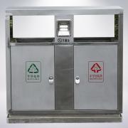 小区物业钢制垃圾桶 垃圾桶标识图片 室外垃圾桶定制定做