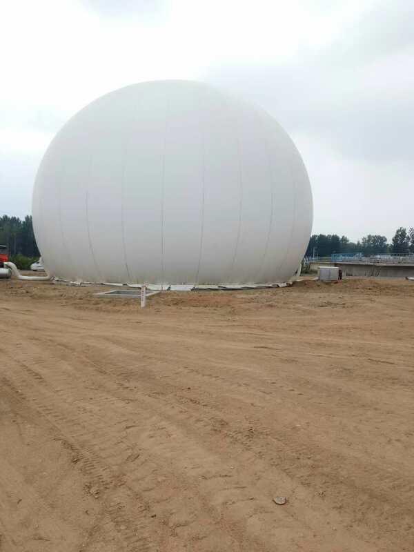 沼气工程 海越膜结构 1000立方大型双膜气柜储气柜沼气柜