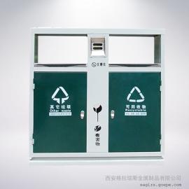 银河彩票垃圾箱分类图片 室外垃圾桶定制定做 小区物业钢制垃圾桶