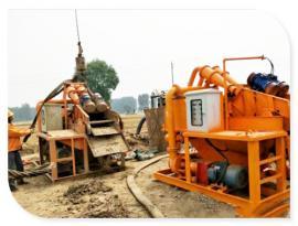 钻孔灌注打桩泥浆脱水机进行建筑泥浆处理