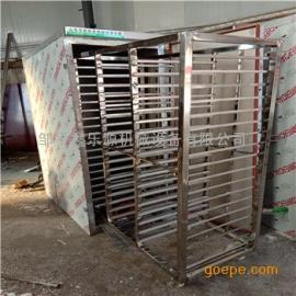 红薯蒸箱定做 54盘一拖三蒸汽蒸车规格 单门馒头蒸房推车更方便