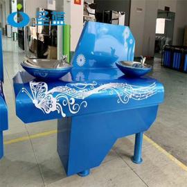 城市之音户外直饮水机 双盆户外饮水台 景区广场户外饮水机