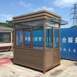 不锈钢移动岗亭尺寸 钢结构岗亭规格 小区门卫岗亭定制定做