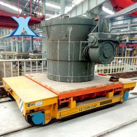 钢水铸浇成型搬运车防火灭火材质电动平板转运车