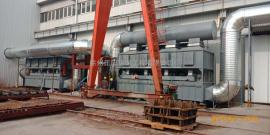 活性炭吸附浓缩催化燃烧装置-机械加工行业喷涂定制加工