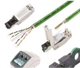 西门子网线180度直水晶接头金属插头代理商销售