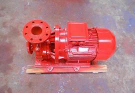 XBD-HW卧式恒压切线泵XBD6.0/40G-HT消防喷淋泵室外消火栓泵