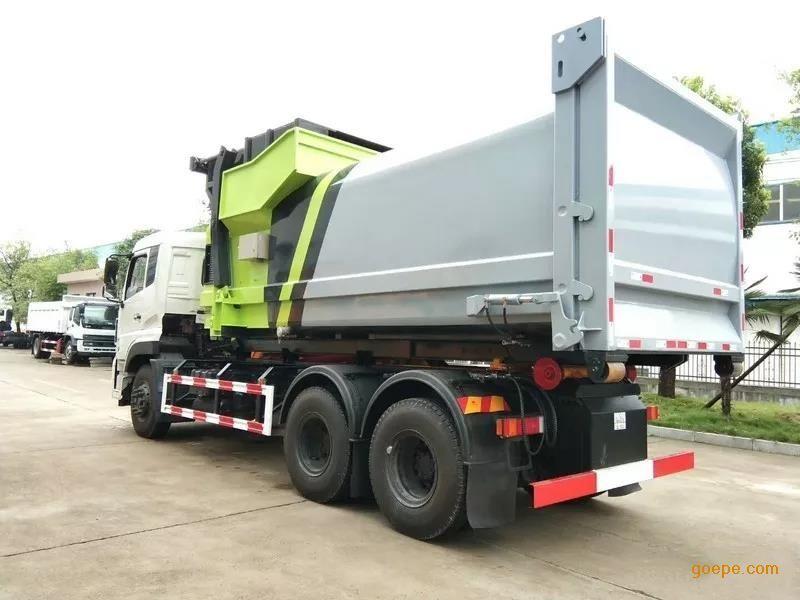 东风天龙20吨勾臂式垃圾车