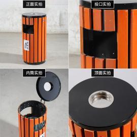 圆桶垃圾桶分类标识图片可回收垃圾桶图片 钢木垃圾桶尺寸