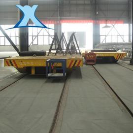 轨道平车电动平车电动平板车50吨蓄电池轨道搬运平车