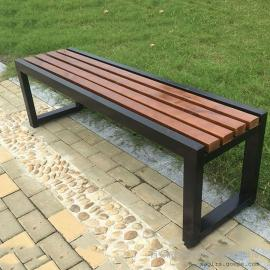 户外椅塑木户外椅定做 无靠公园原塑木椅子 户外休闲长椅报价