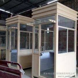 保安岗亭报价 不锈钢移动岗亭尺寸规格 小区门卫岗亭定制