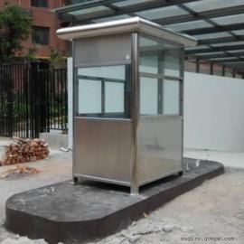 保安不锈钢移动岗亭 值班室岗亭 定做不锈钢岗亭