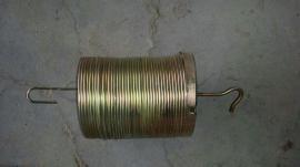 挂钩式弹簧除尘骨架Φ120×2000mm裸丝粗3.0mm锰钢