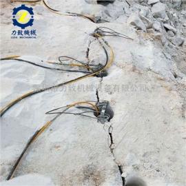 力致液压劈裂棒替代炸药机械不用炸药也可以开山破石