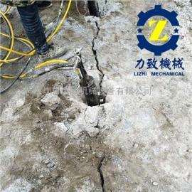 修建堤坝开山爆破不能用炸药力致液压岩石破石机替代炸药