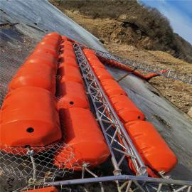漂浮式拦污两半片螺栓固定夹钢丝网塑料拦污浮排