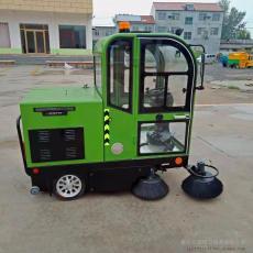 驾驶室电动扫路车 物业工厂电动扫地车