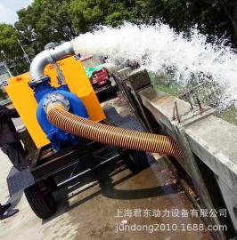 防汛600方大流量柴油机水泵机组8寸应急抢险移动泵车自吸排污泵