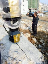 破裂路石头静态液压劈石机