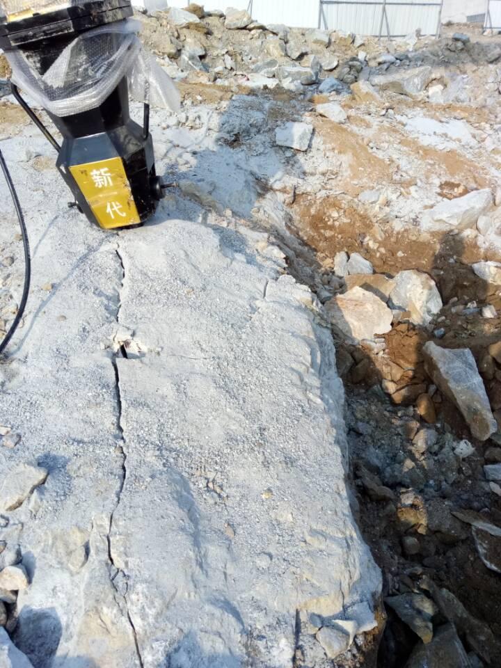 无声拆除非常硬的石头的机器