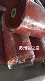 1.0红色单面硅胶布 汽车电瓶防尘罩 绝缘阻燃布