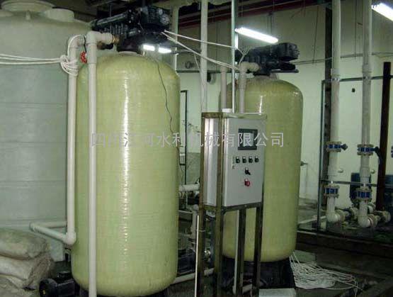 【江河�h保】��t�化水�O�滗N售50T/H|全自�榆�水器富�R克控制器