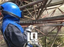 塔吊报建前除锈翻新用什么机器