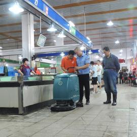 嘉善谈公路集贸市场毛石地面吸水机市场清扫机瓷砖清洗机拖干机