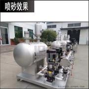供水设备喷砂 不锈钢配件喷砂机