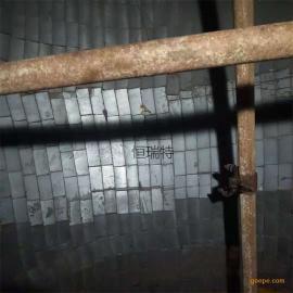 恒瑞特选粉机陶瓷片风管磁性耐磨贴片 煤粉管道耐磨陶瓷片