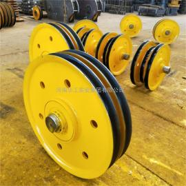 10吨双梁吊钩滑轮组 直径430起重机滑轮片 导向轮 铸钢轧制材质