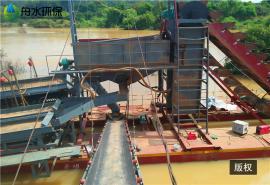 大型淘金船生产商 河道挖沙淘金船 沙金精选鼓动溜槽