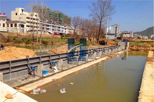 【江河水利】JHFB-6X2 钢结构液压自控翻板闸门 水力自控翻板闸门
