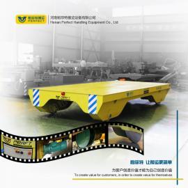 钢铁机械搬运设备电动轨道平板车 超低铝型材架管架运输车