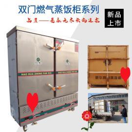 电燃气两用双开门60盘大型蒸饭柜不锈钢定制馒头蒸房5袋面蒸箱