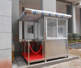 钢结构岗亭-不锈钢岗亭-PVC挂板岗亭加工定制-品牌推荐