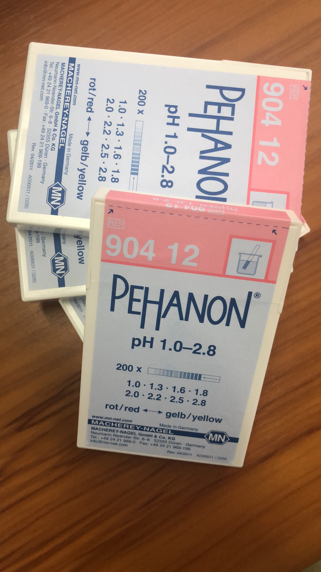 德国MN PEHANON 测试条 90412