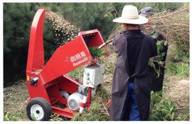 奥玛克1300E双出料电动粉碎机碎枝碎木机10cm园林绿化树木粉碎机