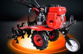 奥玛克750微耕机小型松土机除草旋耕手扶开沟拖拉机耕地翻土犁机