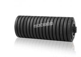 皮带机防尘防水橡胶圈式托辊108*455缓冲托辊规格可定做