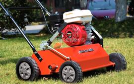 草坪梳草机本田/三菱动力手推自走式汽油梳草机梳理草坪透气切根
