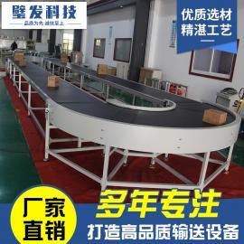 璧发回形皮带输送机转弯机定制各种非标设备流水线爬坡机皮带线