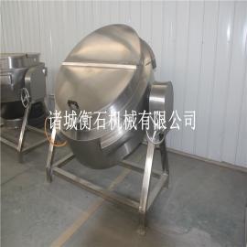 蒸汽夹层锅-蒸汽夹层锅安装图片-衡石立式蒸汽夹层锅