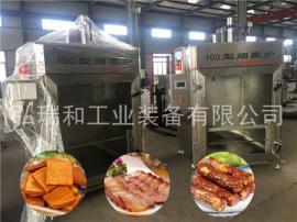 豆腐干烟熏设备|加工熏鸡的烟熏炉多少钱|30型全自动烟熏炉