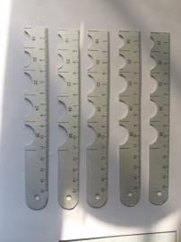 瞳孔尺、兔用瞳孔测量尺 不锈钢 HL-GTC