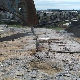 地基工程开挖岩石劈石机环保静态采石