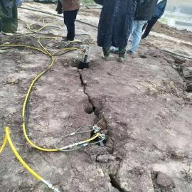 基础工程开挖岩石劈石机静态环保破石